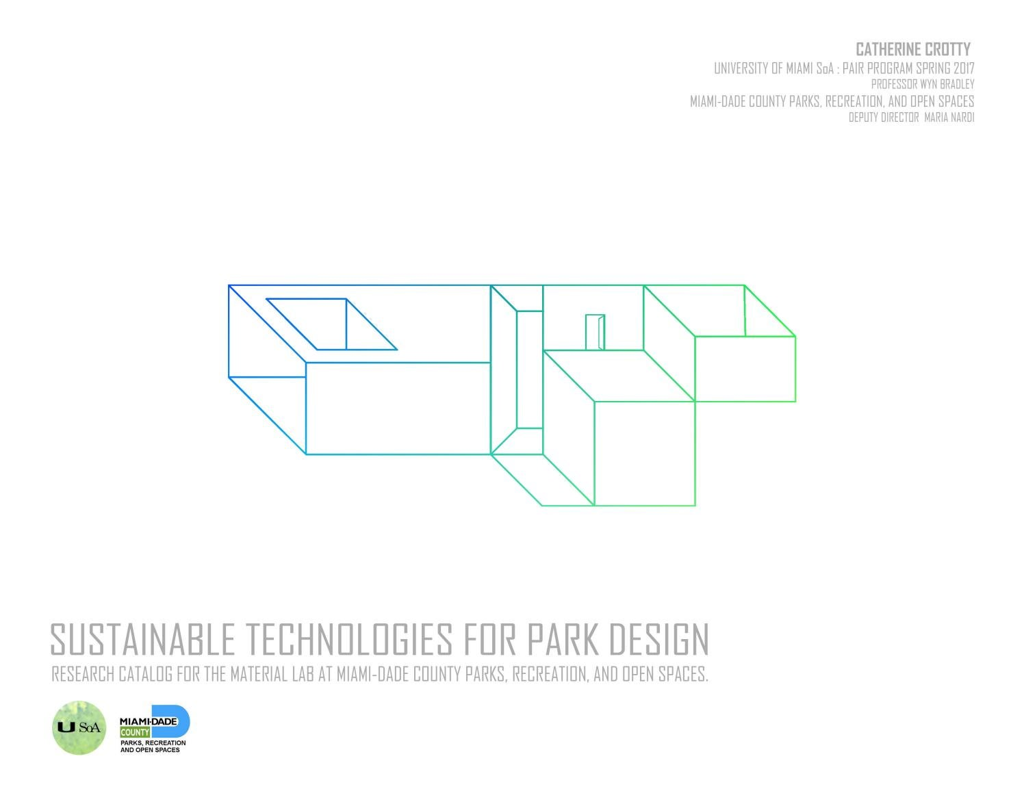 Sustainable Technologies For Park Design By Catherine Issuu