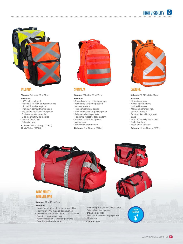 NEW Caribee Calibre Hi Vis  26L Back Pack Orange 5801