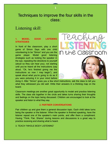 Techniques to teach the four skills by Susy Gudiel - issuu