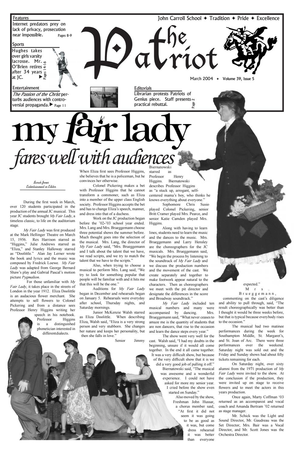 The Patriot March 2004, Issue 5, Vol 39 by The Patriot - issuu