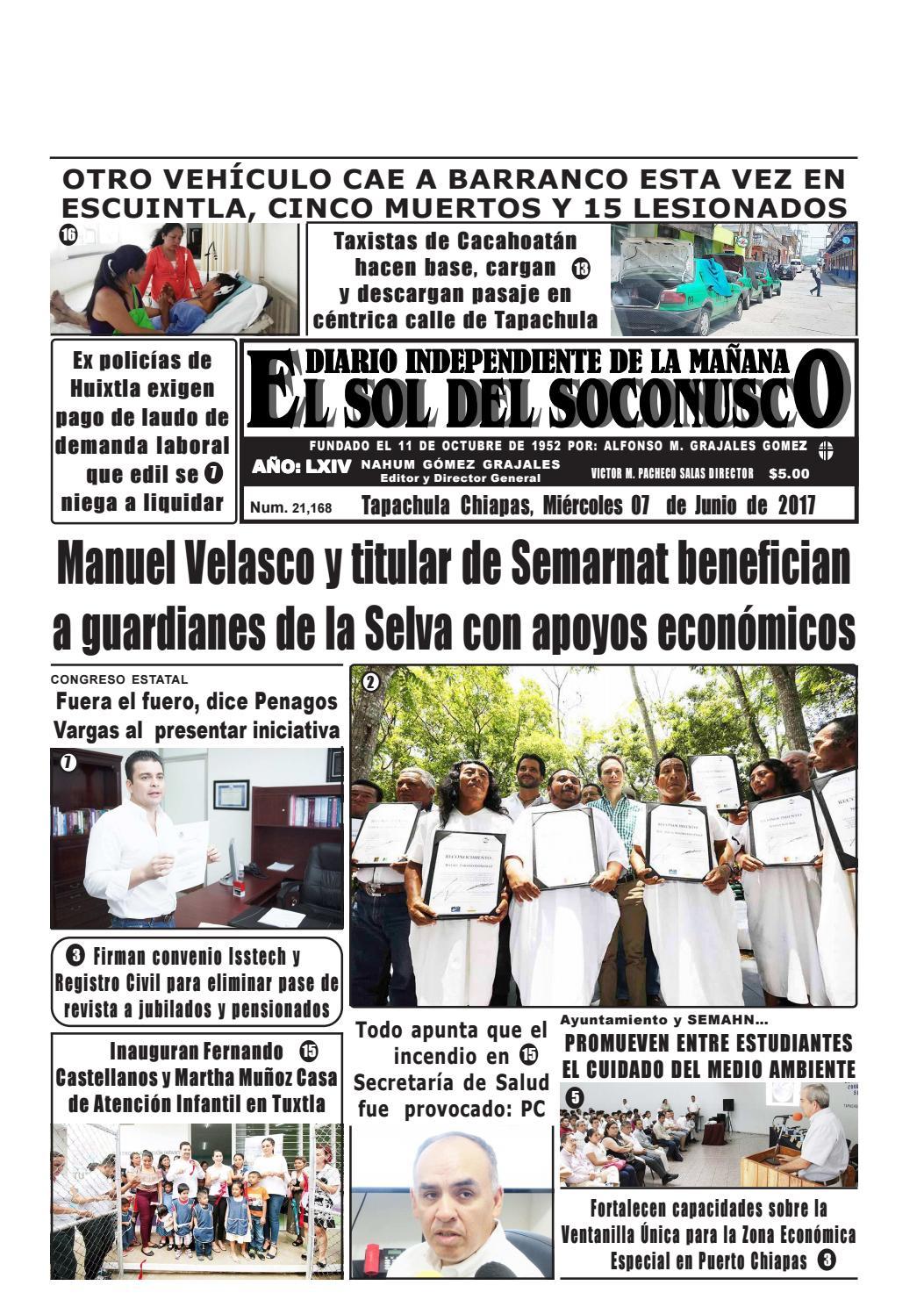 Periodico el sol del soconusco 07 06 17 by Periódico \