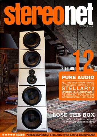 StereoNET: PureAudioProject Stellar12 Open Baffle Loudspeaker Review