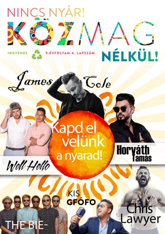 """Cover of """"KÖZMAG Nyár Tatabánya"""""""