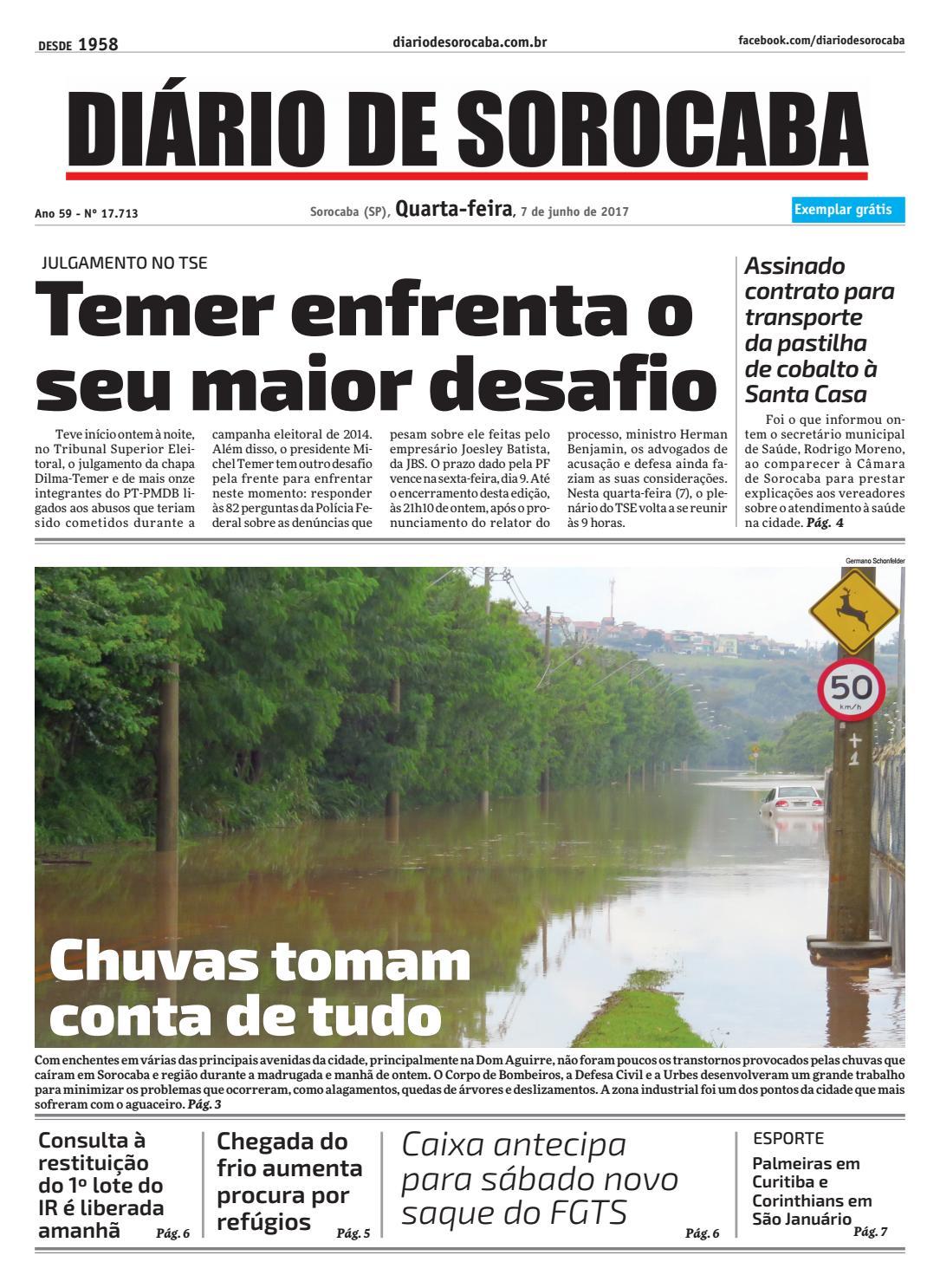 868173d3439bf Edição 07 de junho de 2017 by DIÁRIO DE SOROCABA - issuu