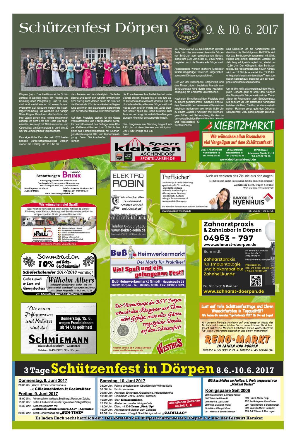 Schützenfest Dörpen Emszeitung by Neue Osnabruecker