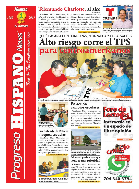 Progreso Hispano News Charlotte NC. Ed#12 06062017 by Progreso ...