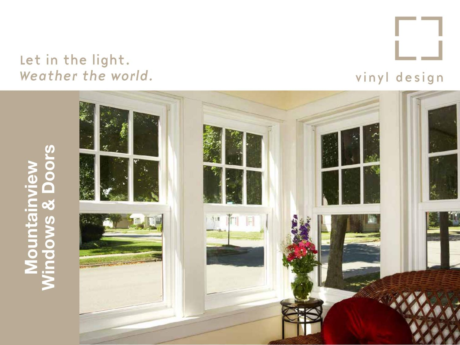 Vinyl Design Corp Mountainview Window Brochure By Corporation Issuu