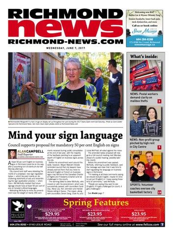 Richmond News June 7 2017 by Richmond News - issuu