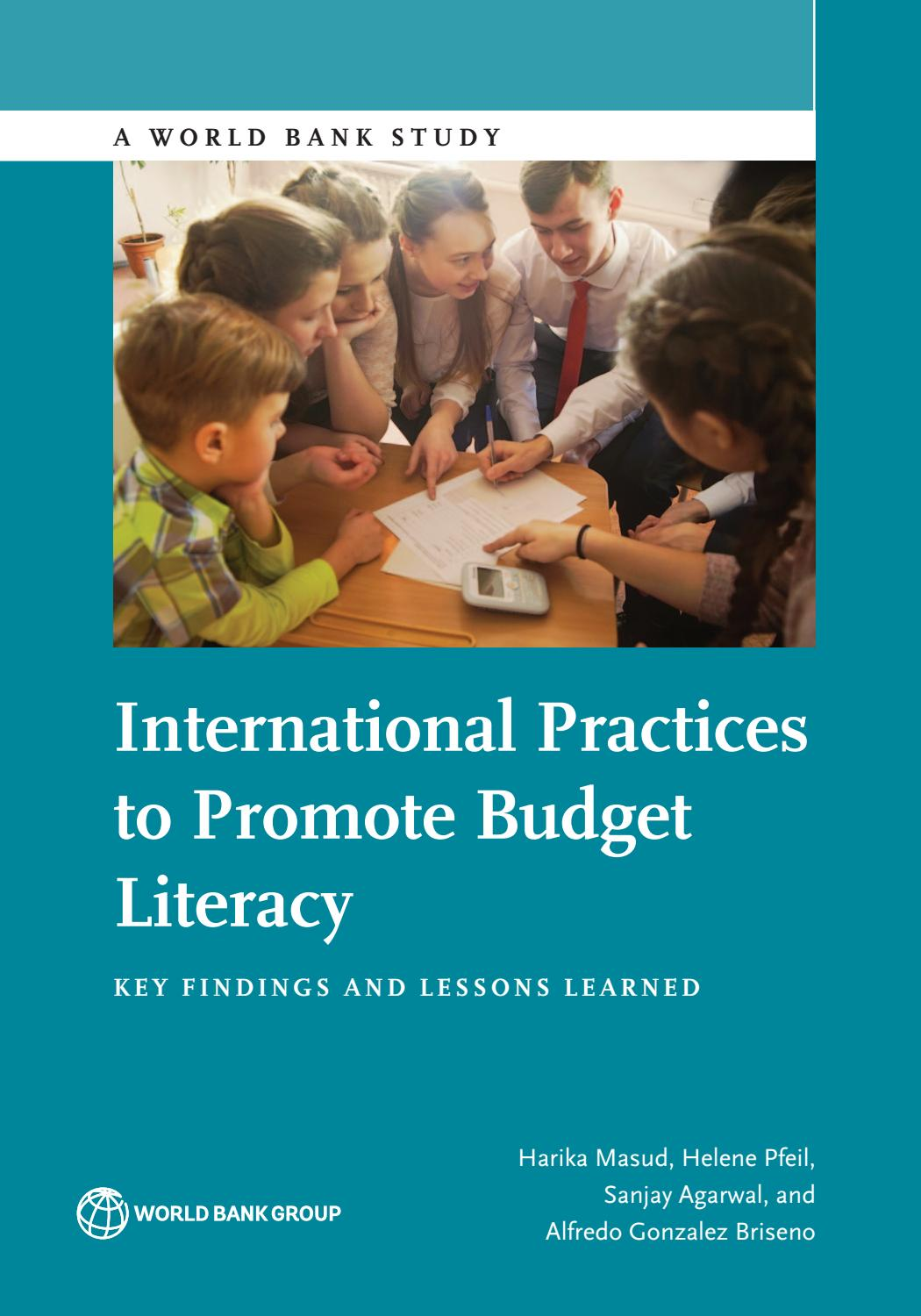 International Practices to Promote Budget Literacy by World Bank ...