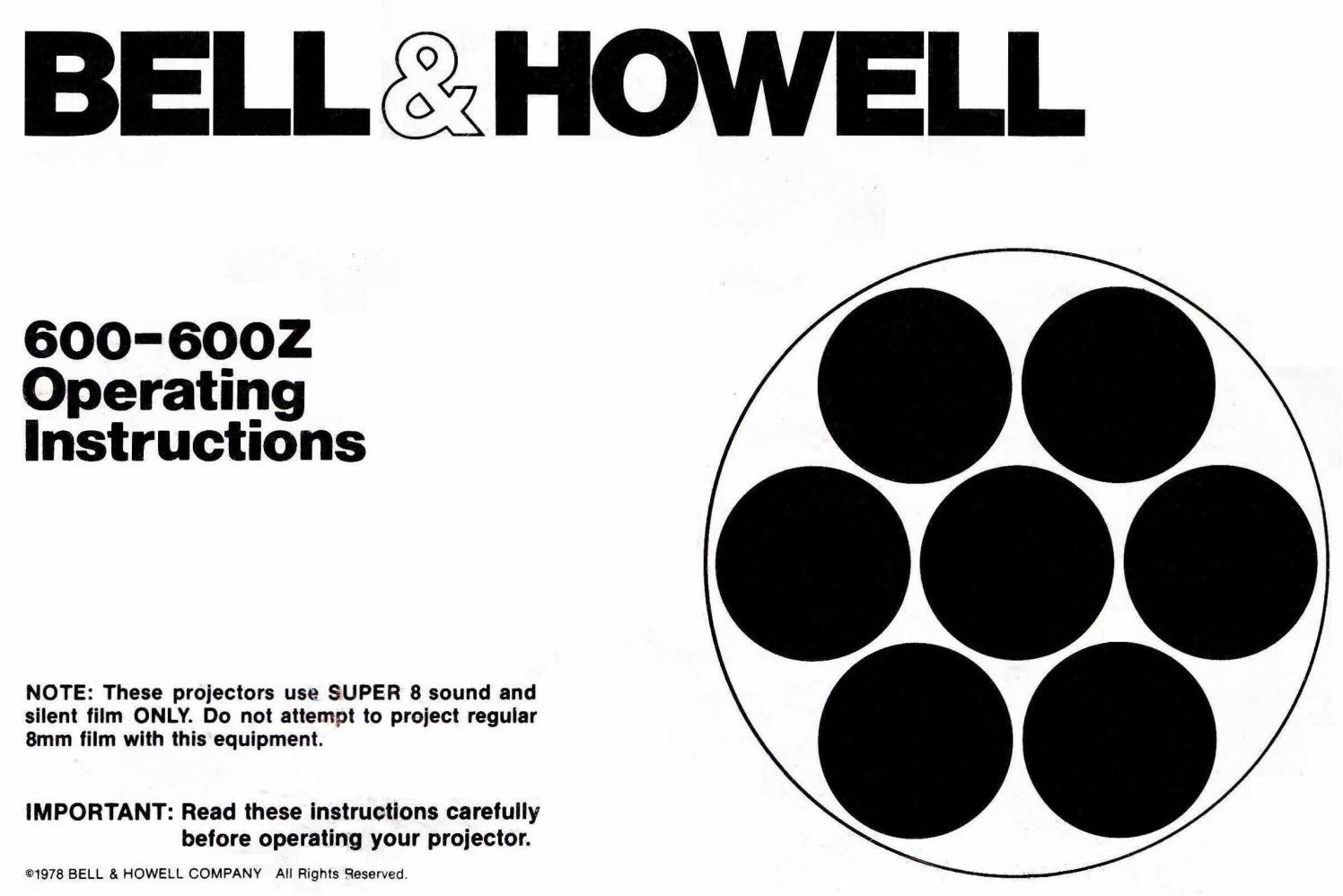 Bell & Howell 600 & 600z User Manual 14 Pages by Cinema62