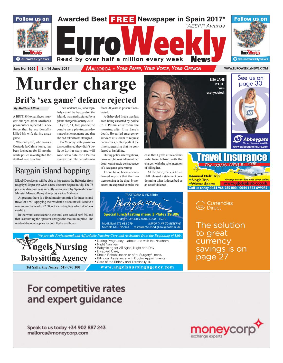 1bd1c37b347cc Euro Weekly News - Mallorca 8 - 14 June 2017 Issue 1666 by Euro ...
