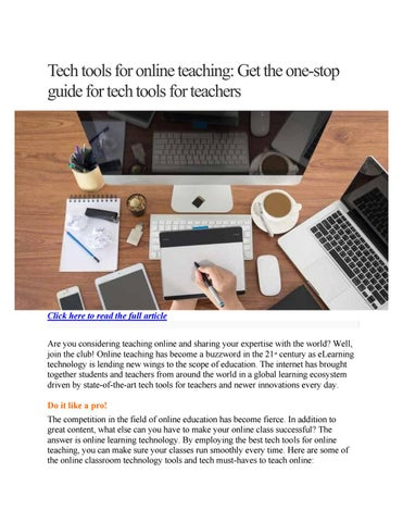 863dcdb178b Tech tools for online teaching  Get the one-stop guide for tech tools for  teachers