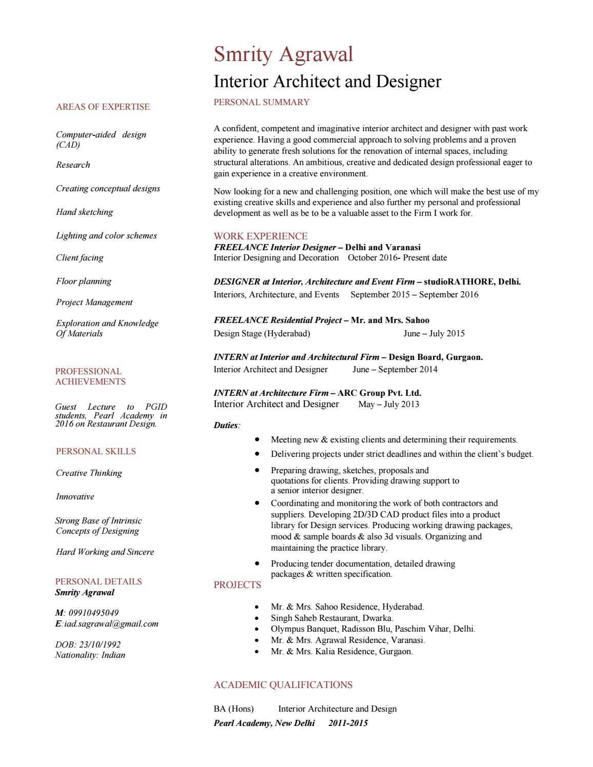 smrity agrawal- resume by smrity agrawal