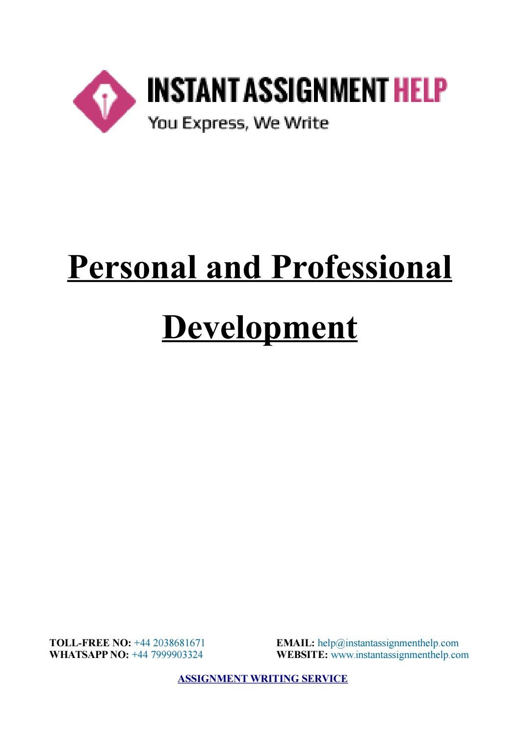 assignment sample personal and professional development by  assignment sample personal and professional development by instant assignment help issuu