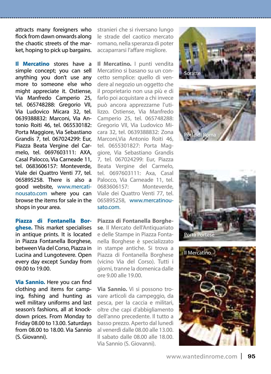 The expat guide to rome 2017 by wanted in rome issuu - Il mercatino roma porta maggiore ...