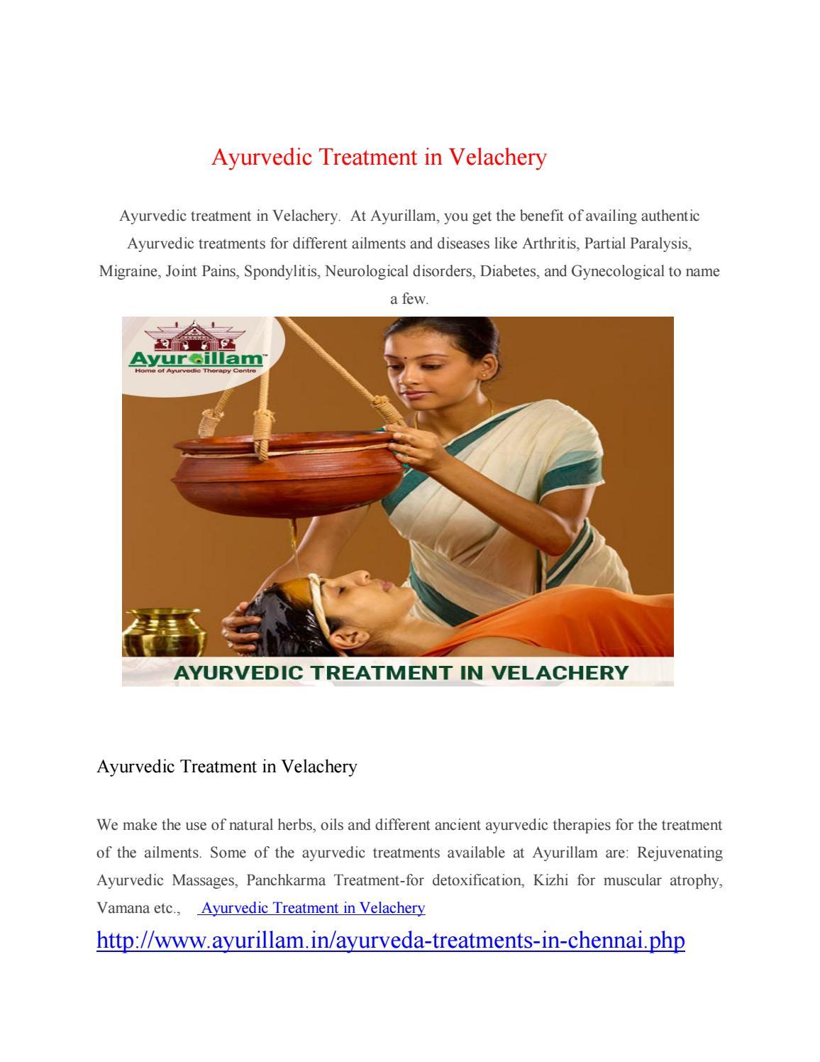 Ayurvedic treatment in velachery