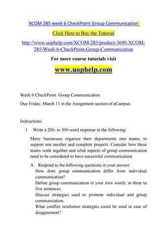 Checkpoint group communication