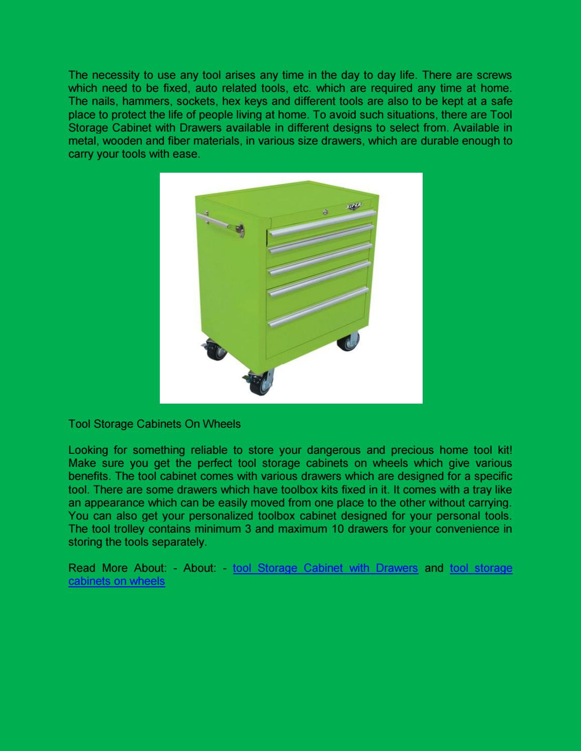 Tool Storage Cabinets On Wheels By