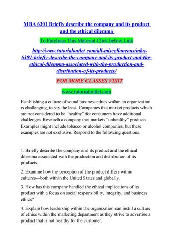 Ethical Dilemma Examples In Business