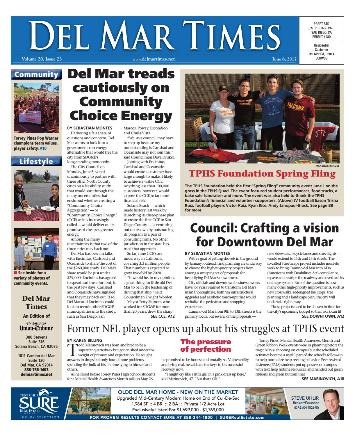 Del Mar Times 06 08 17 by MainStreet Media - issuu