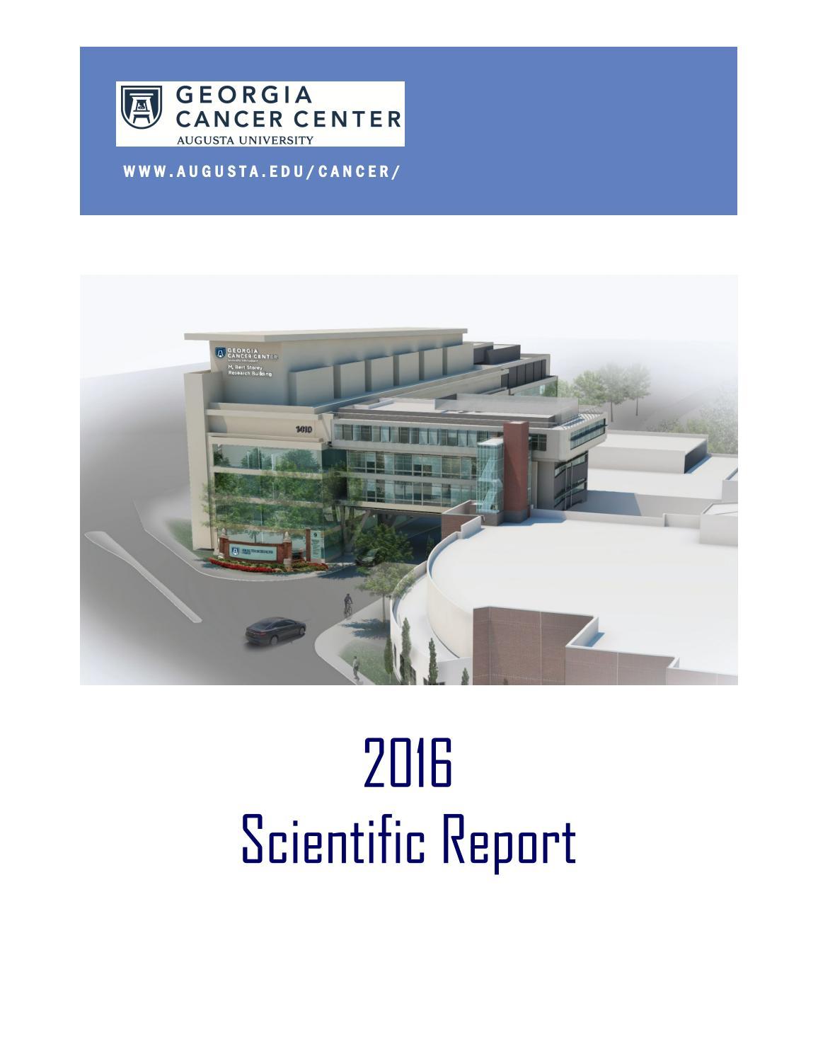Georgia Cancer Center 2016 Scientific Report by Augusta