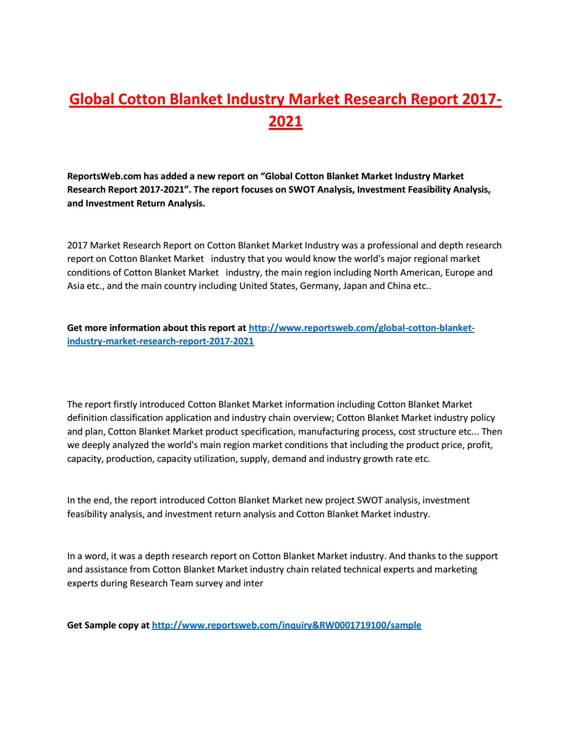 Demnd supply analysis of cotton industry