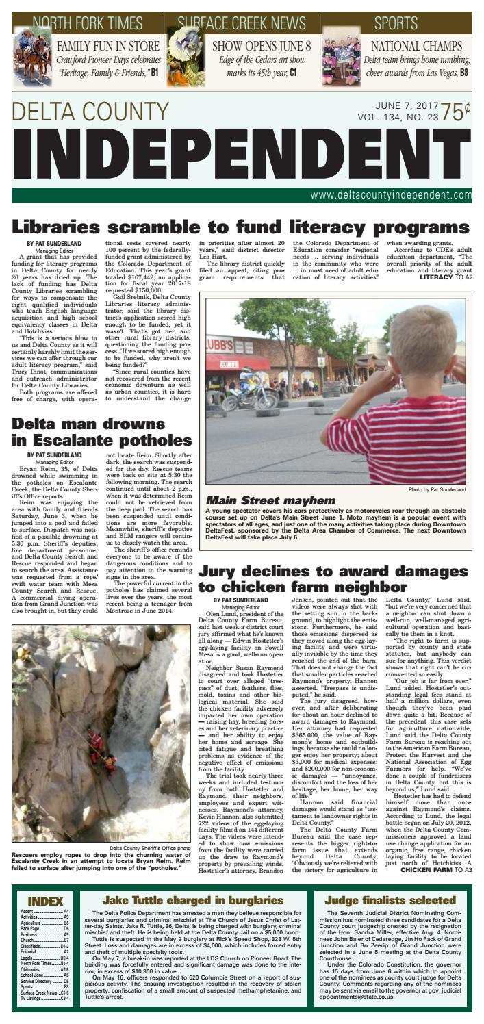 Delta County Independent June 7 2017 By