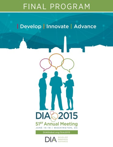 DIA 2015 Brochure by medical writing - issuu