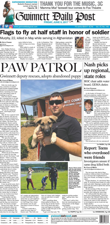 June 9, 2017 — Gwinnett Daily Post