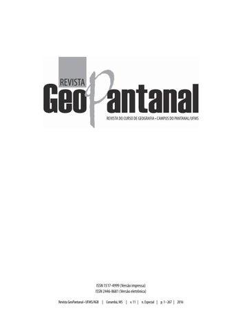 3c0e9e7a4 Revista geopantanal n especial impressa by Edson Silva - issuu