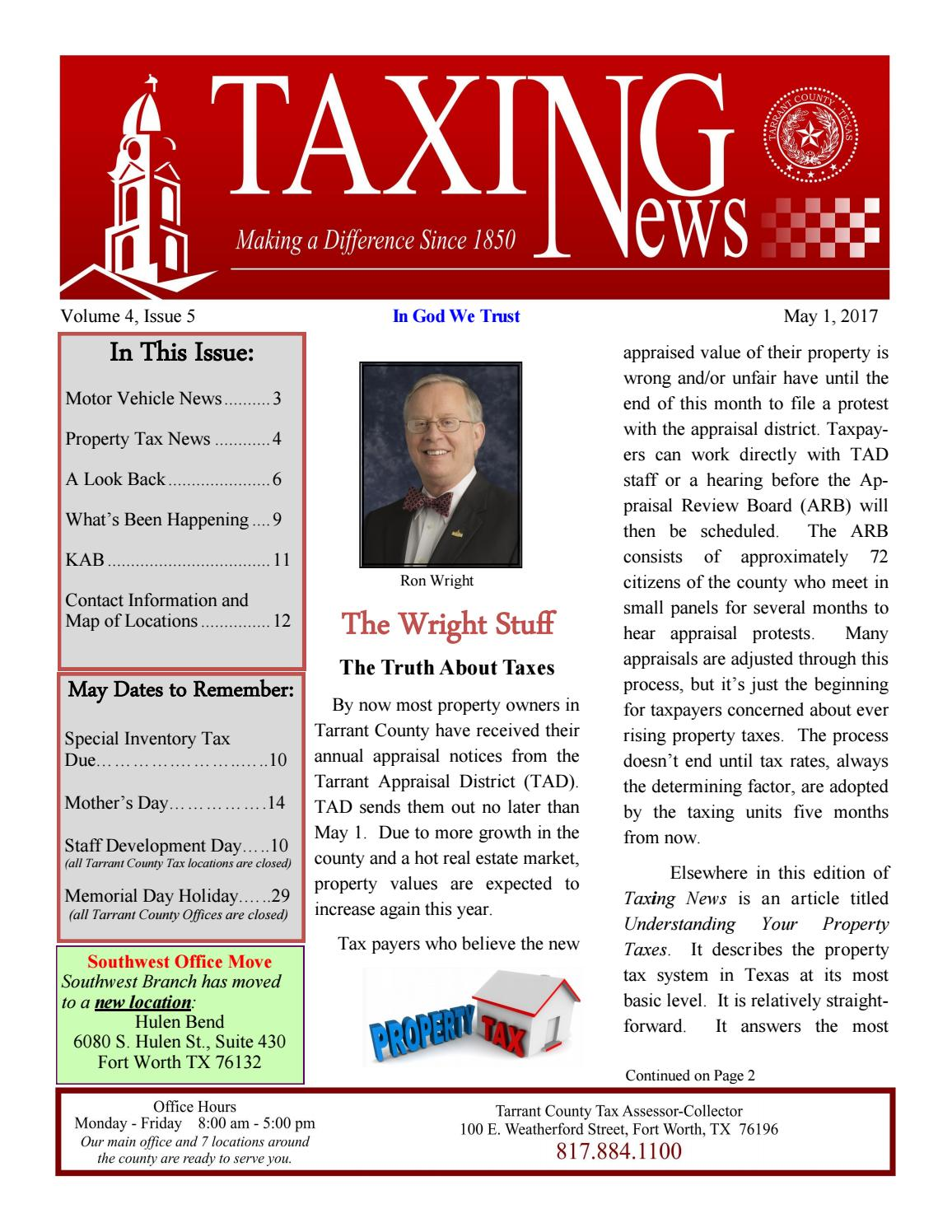 May 2017 Rev Tarrant County By Cutmytaxes Issuu