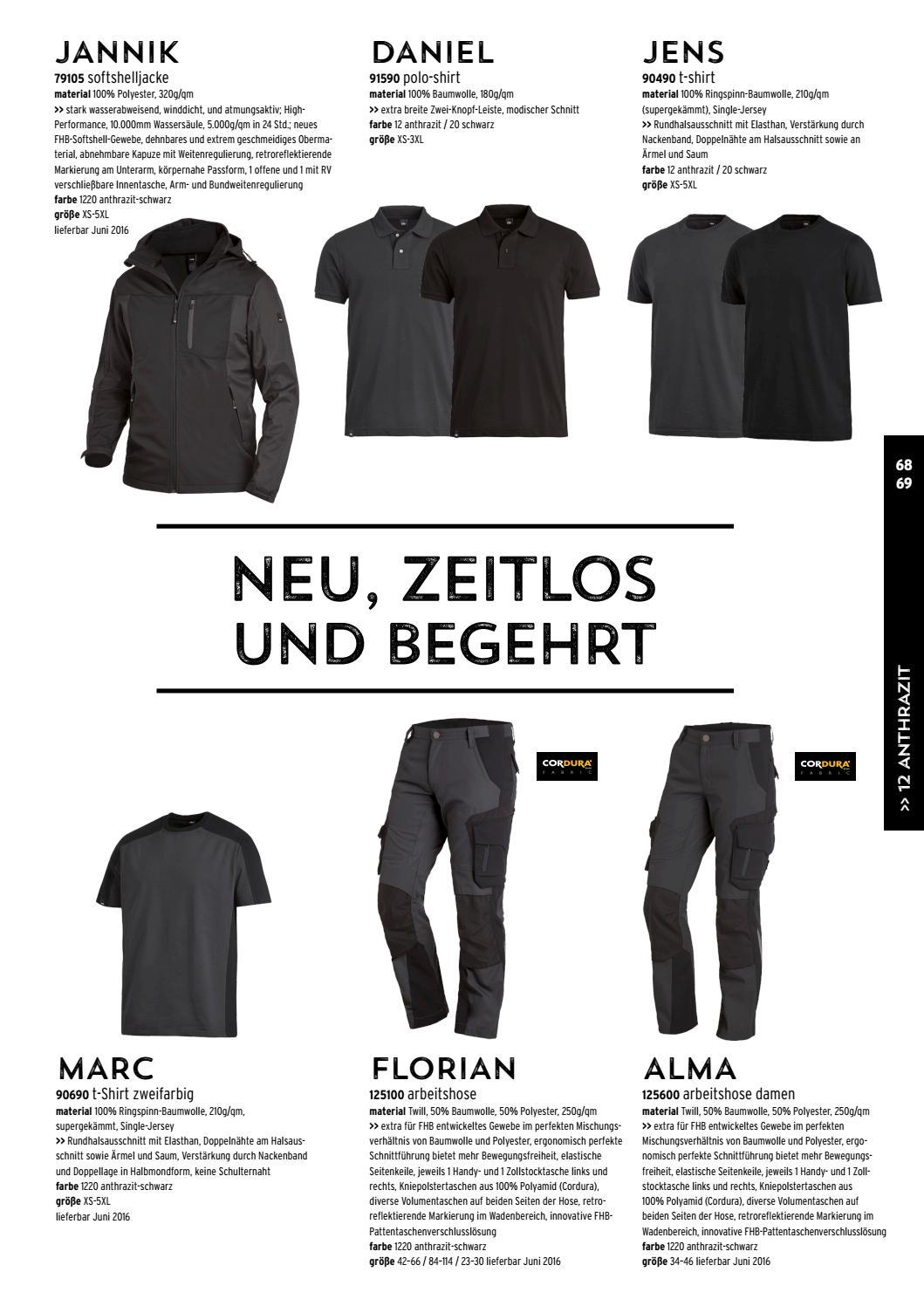 FHB Arbeitshose FLORIAN 125100 anthrazit//schwarz