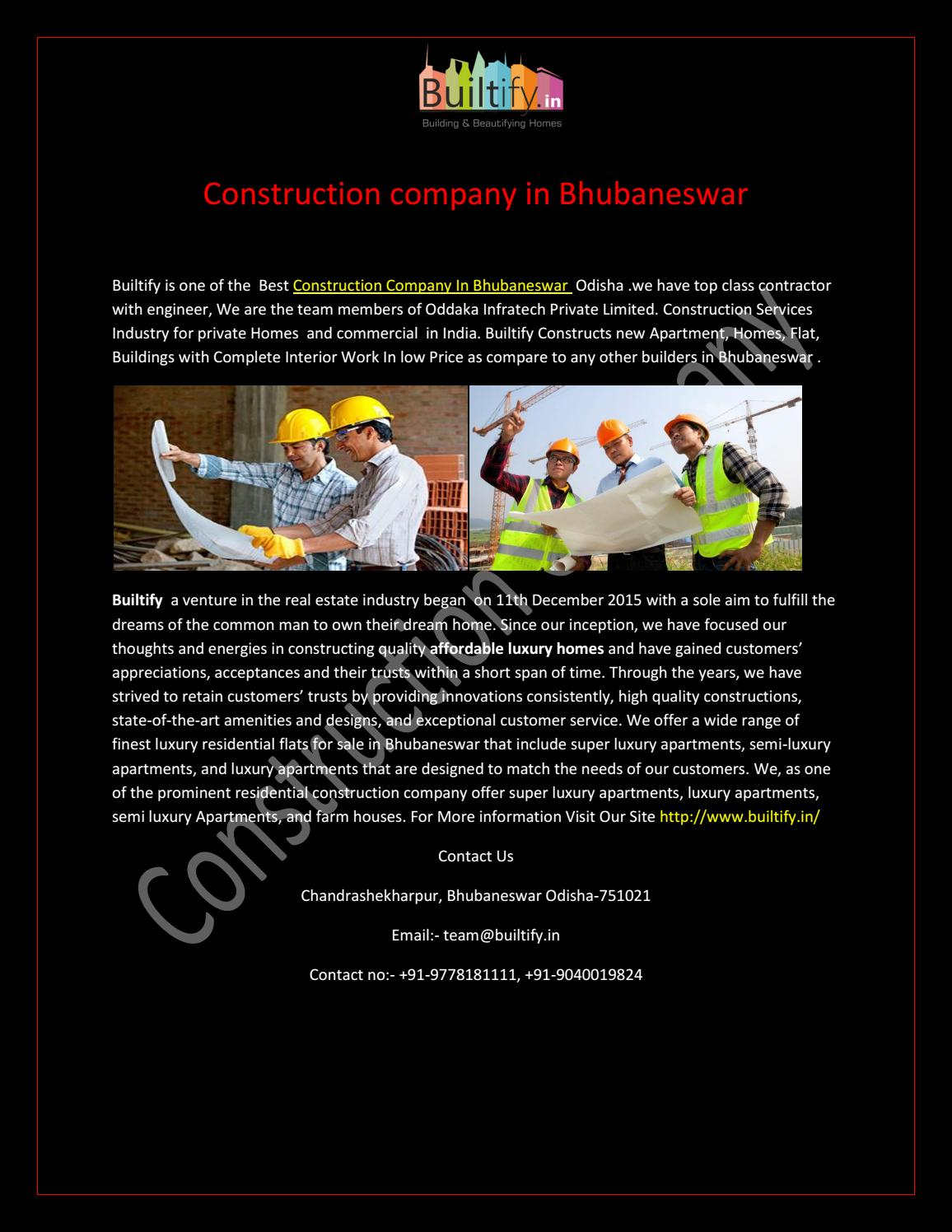 Best Construction company in bhubaneswar by builtify - issuu