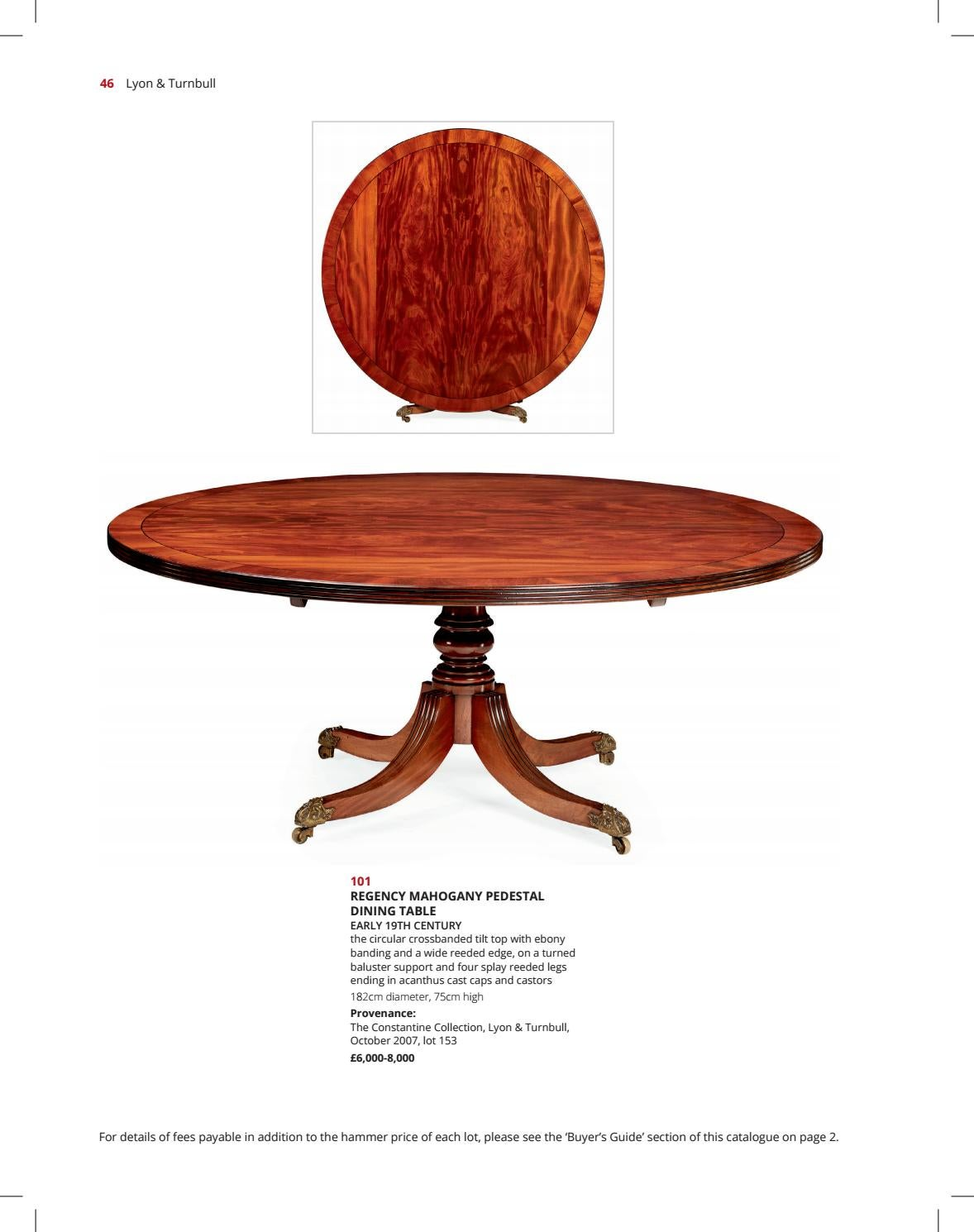 Fine Furniture Works Of Art 5th July 10am By Lyon Turnbull