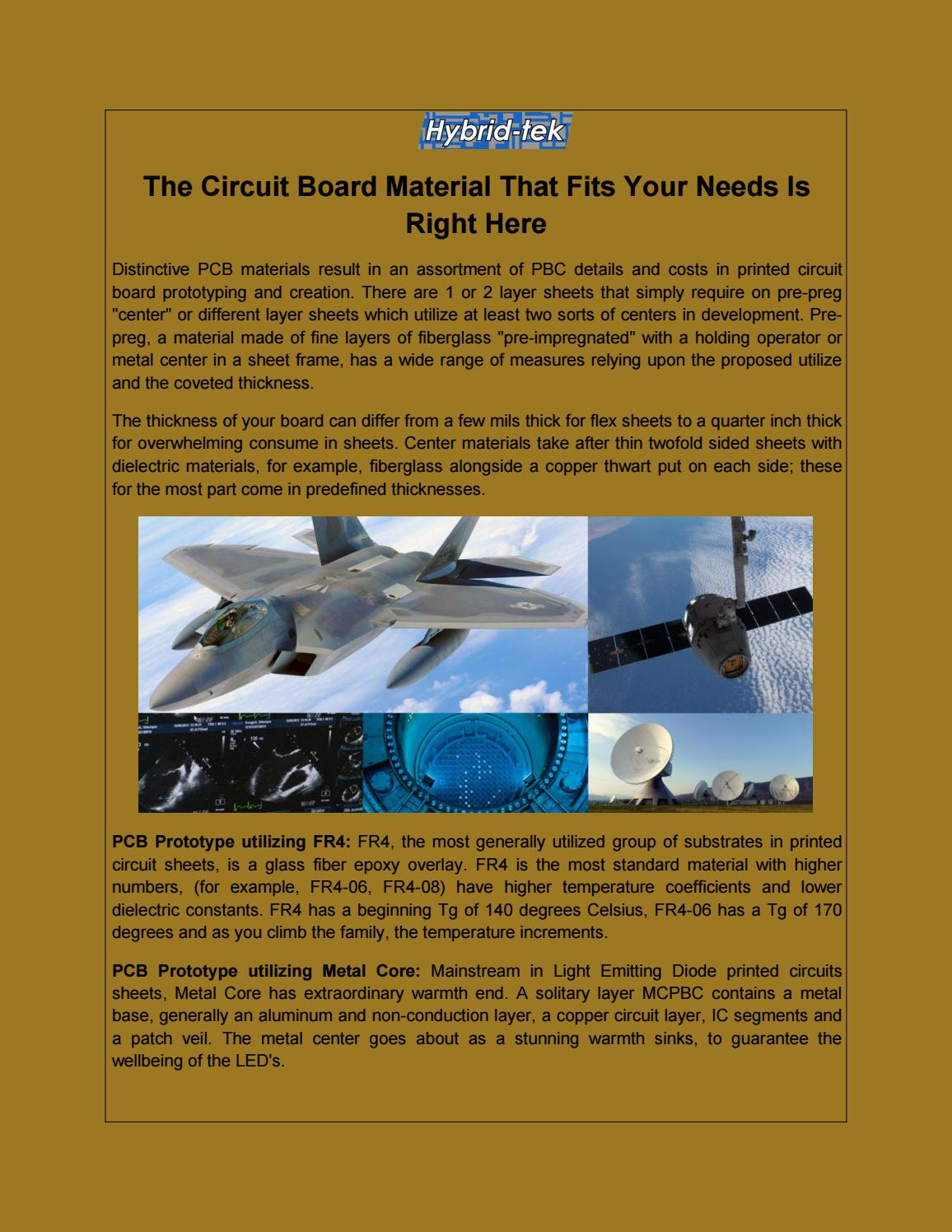 The Circuit Board Material That Fits Your Needs Is Right Here By Fiberglass Trinity Reservations Issuu
