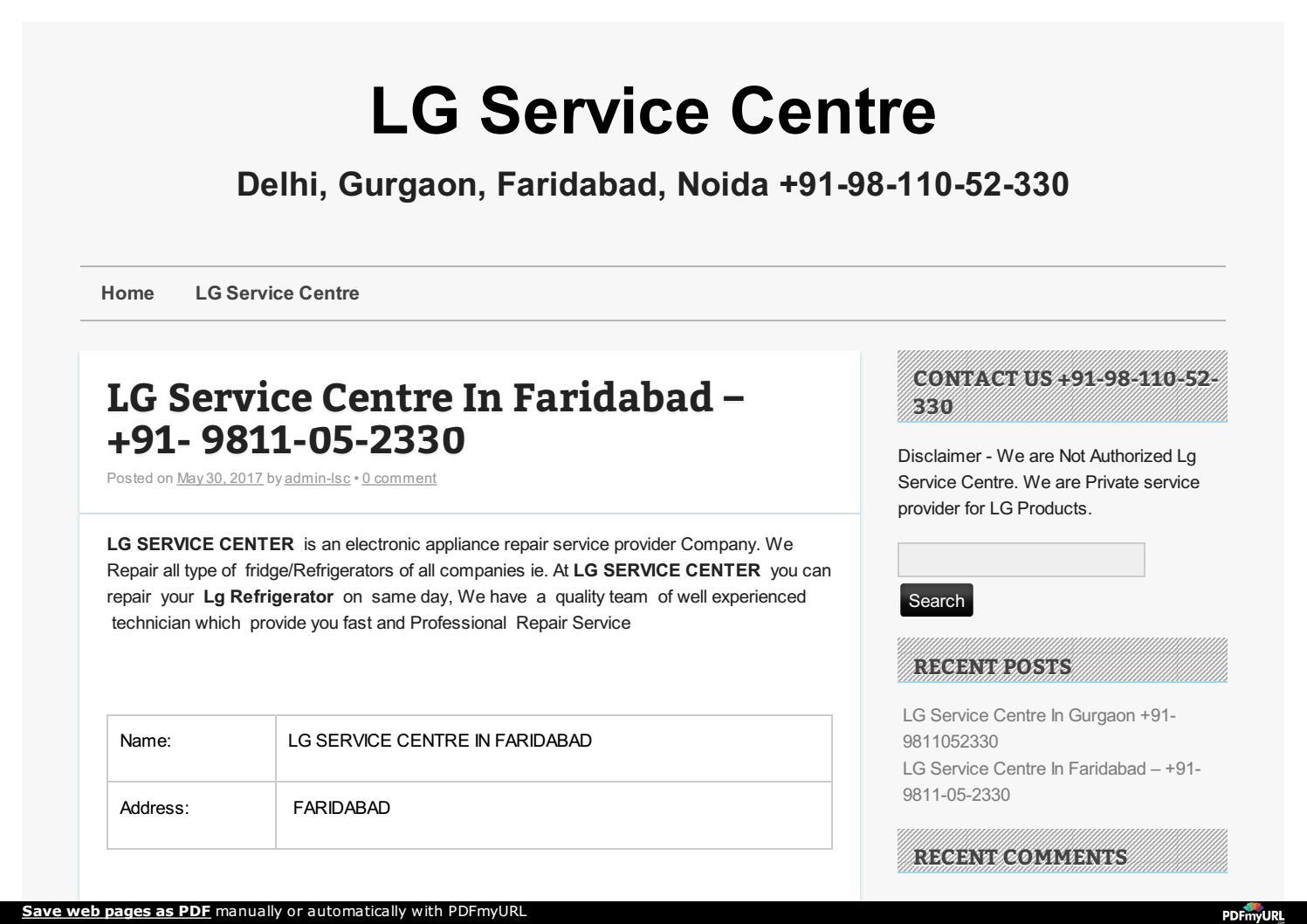 Lg Service Centre Faridabad - 9811052330 by lg service