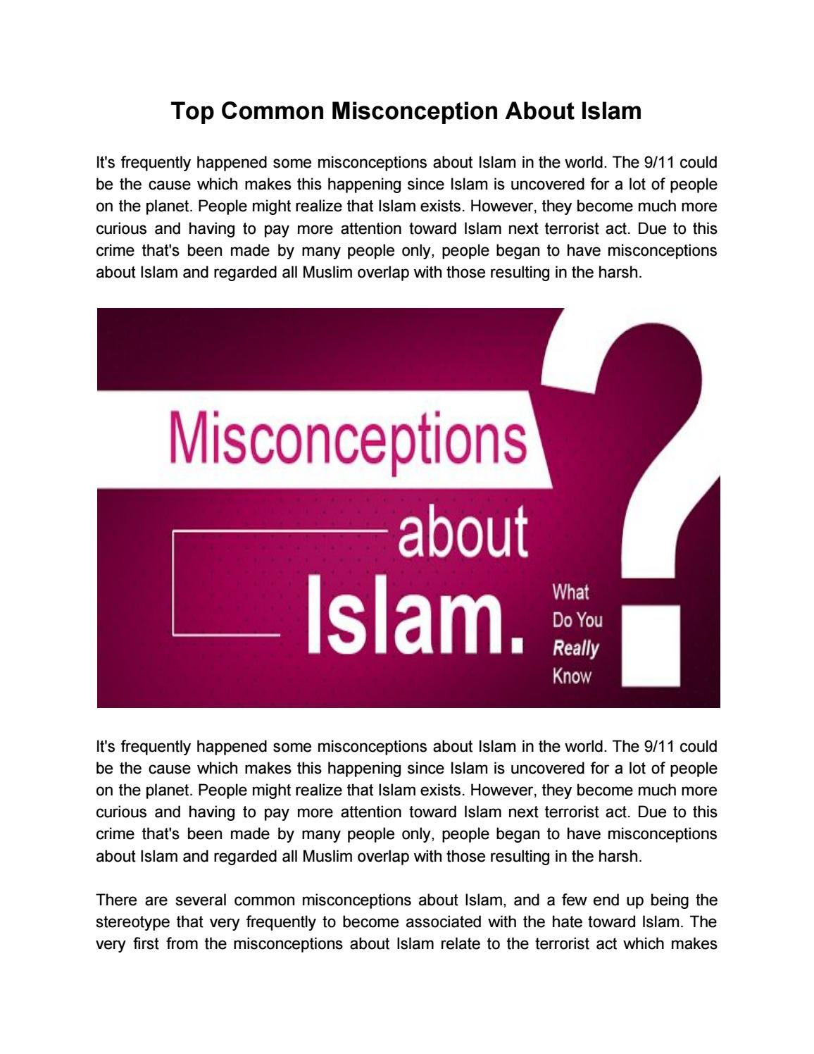 Common Misconceptions About Islam 89