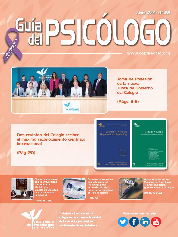Guía del Psicólogo mes de Junio 2017 by Colegio Oficial de ...