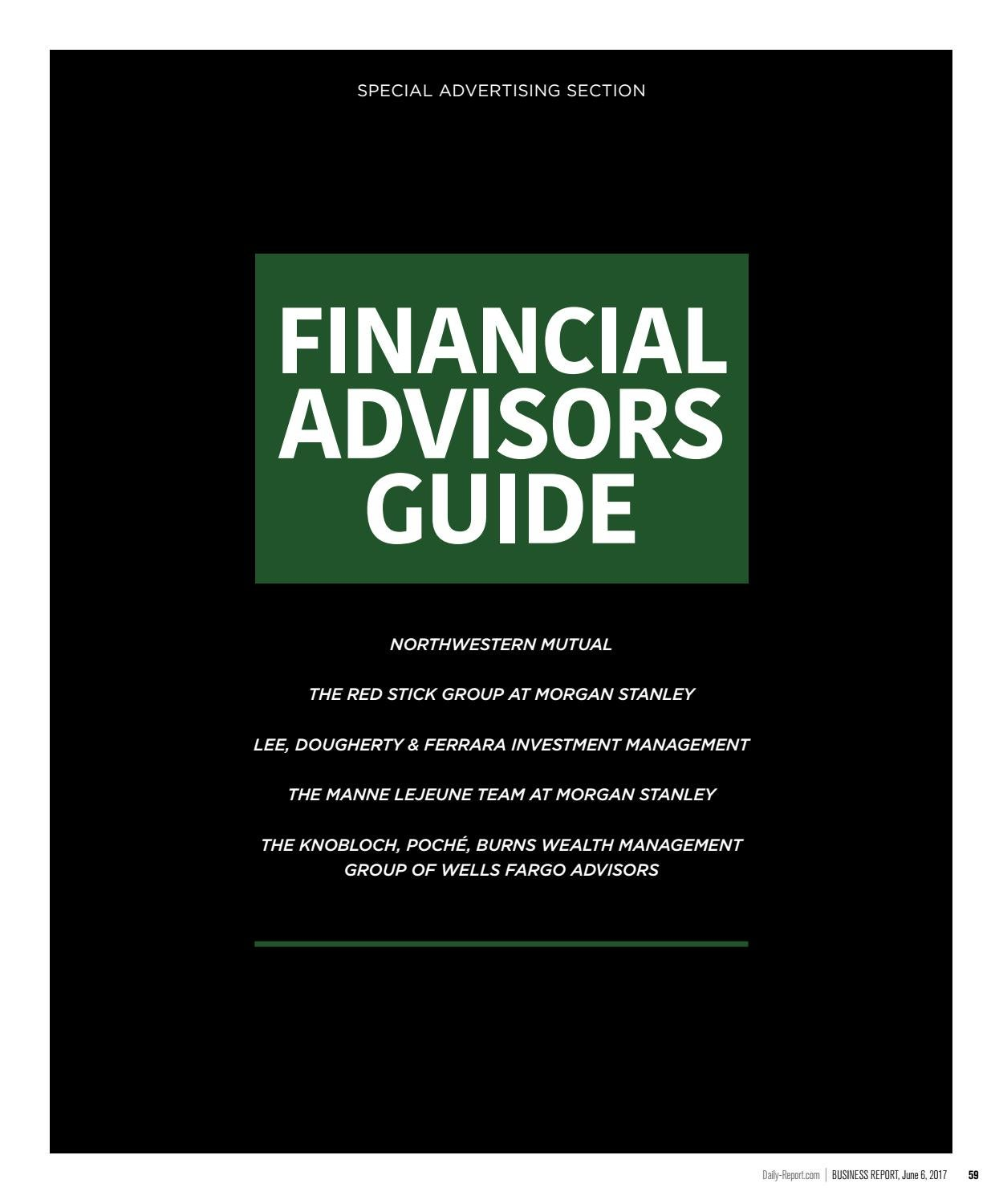 Baton Rouge Business Report 2017 Financial Advisors Guide by