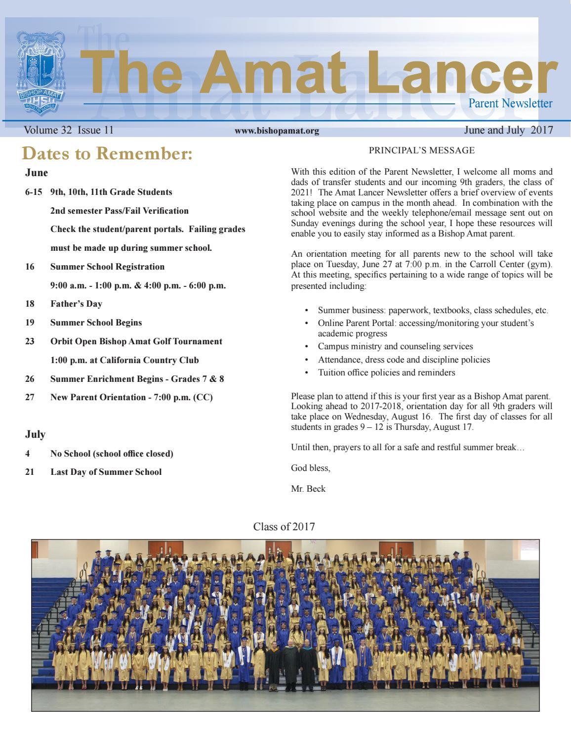 June july 2017 parent newsletter by darleen adamek issuu 1betcityfo Images