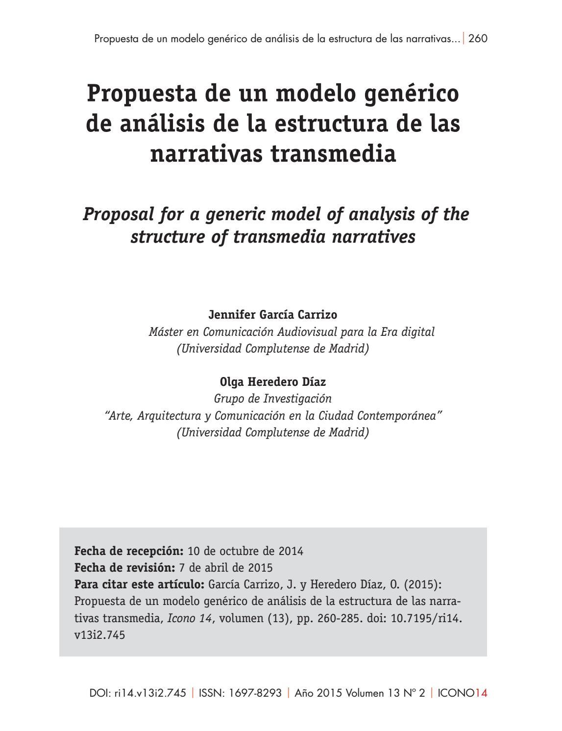 Propuesta De Un Modelo Genérico De Análisis De La Estructura