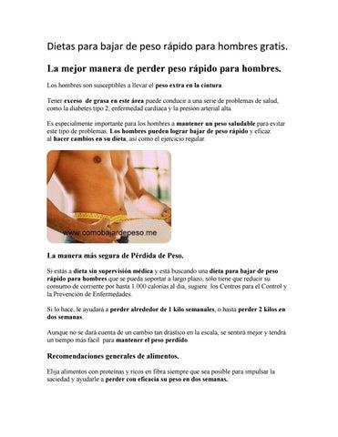 Dieta gratis para bajar de peso rapidamente