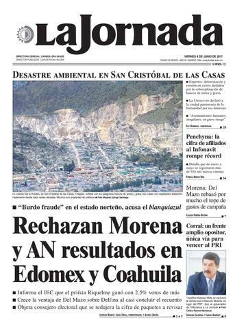 0c1ec14ba VIERNES 9 DE JUNIO DE 2017 CIUDAD DE MÉXICO • AÑO 33 • NÚMERO 11804 •  www.jornada.unam.mx