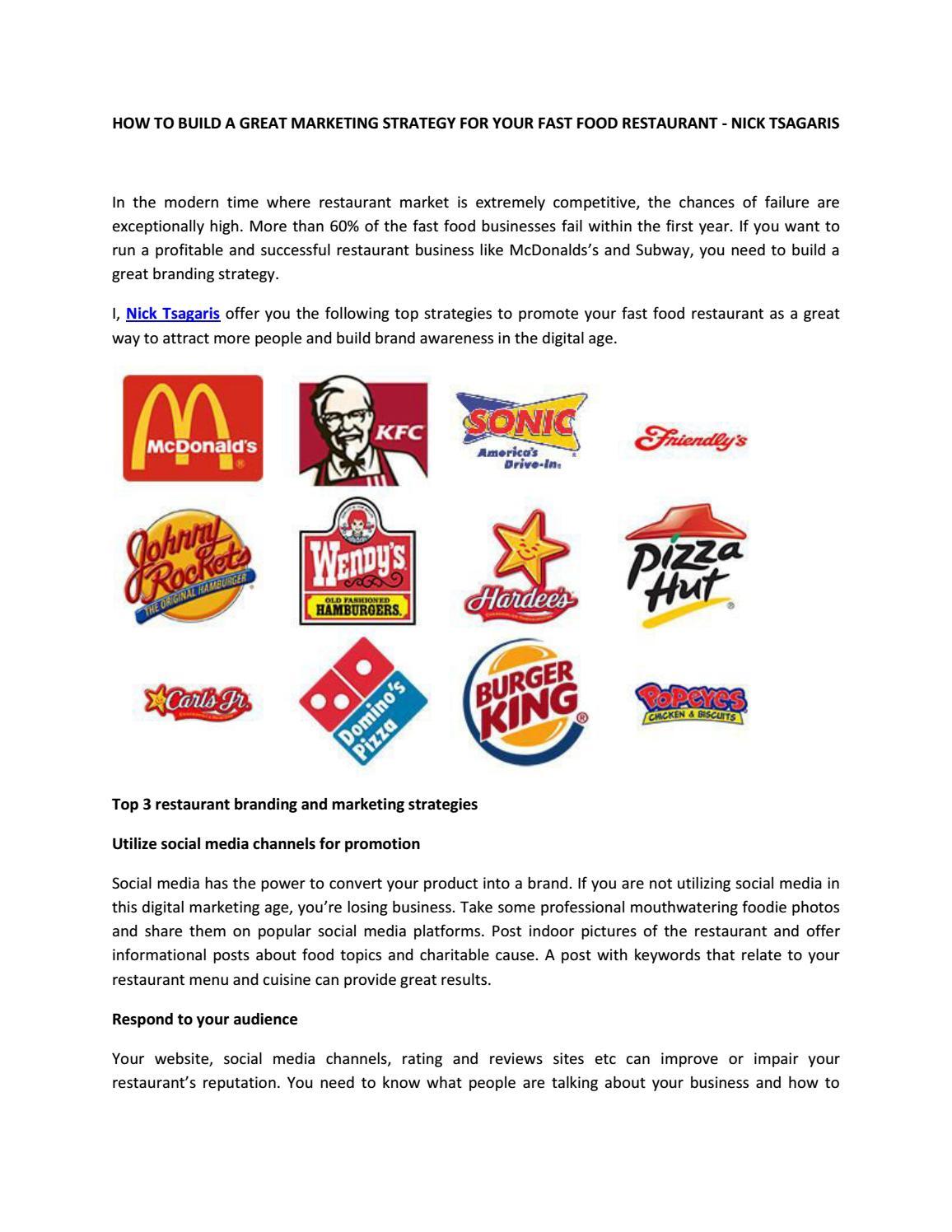 subway restaurant marketing strategy