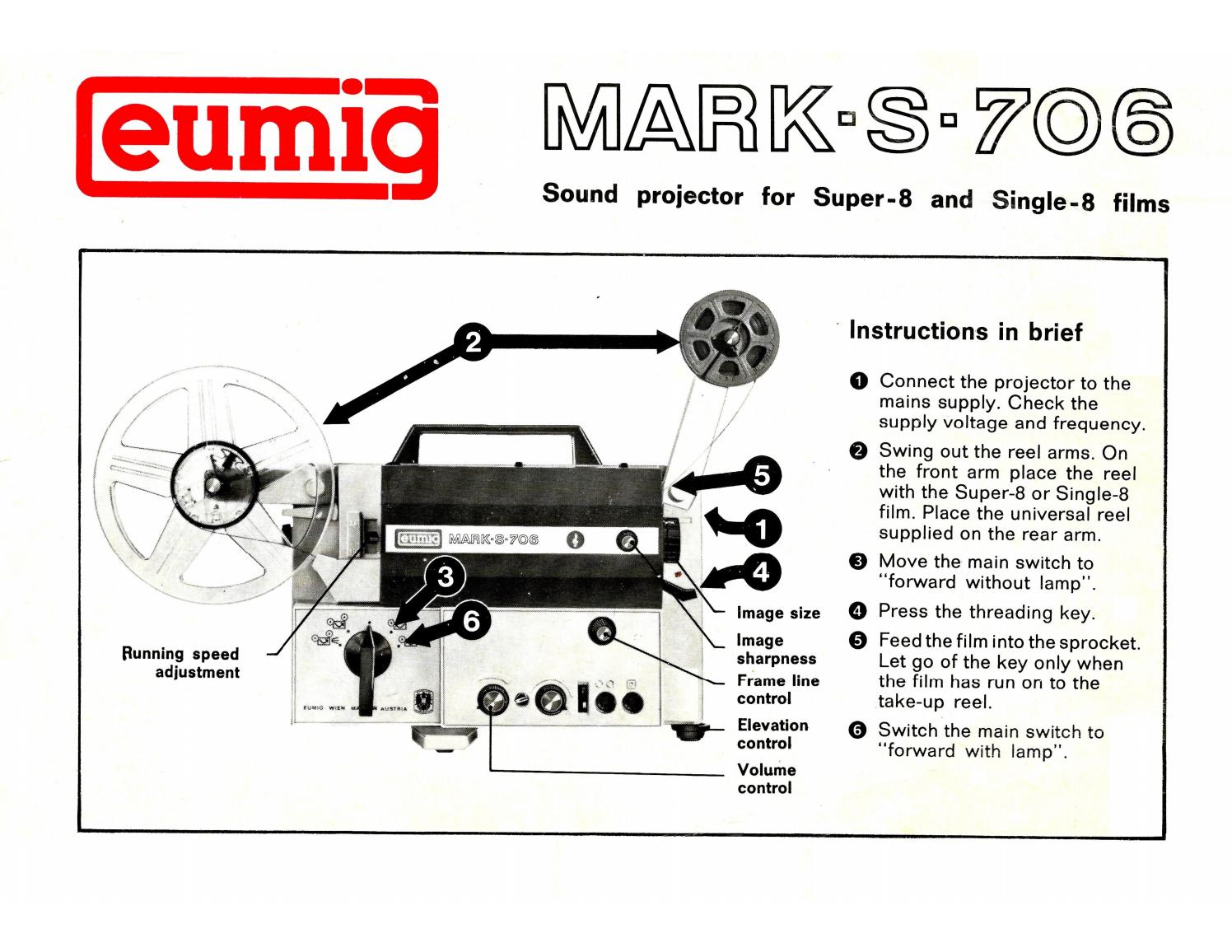 Eumig Mark S 706 User Manual 24 Pages By Cinema62 Issuu