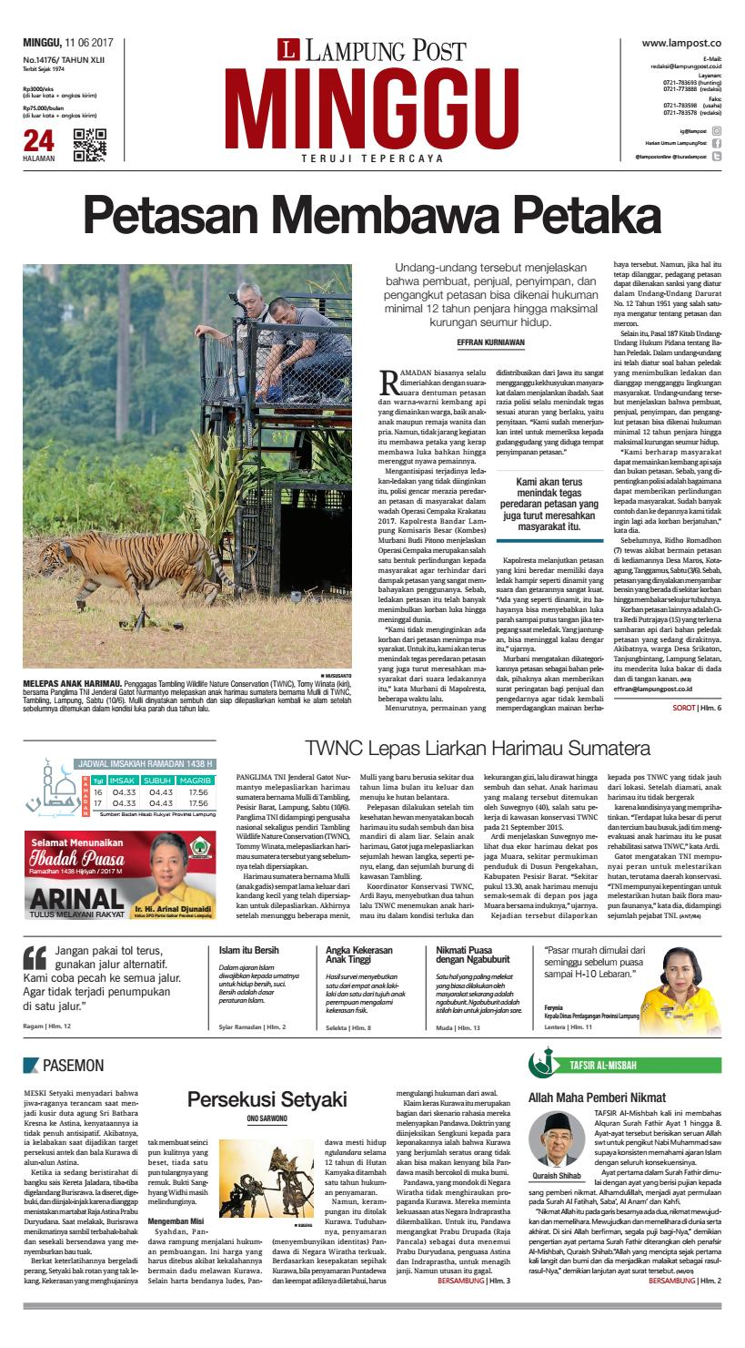 Lampung Post Minggu 11 Juni 2017 By Lampung Post Issuu