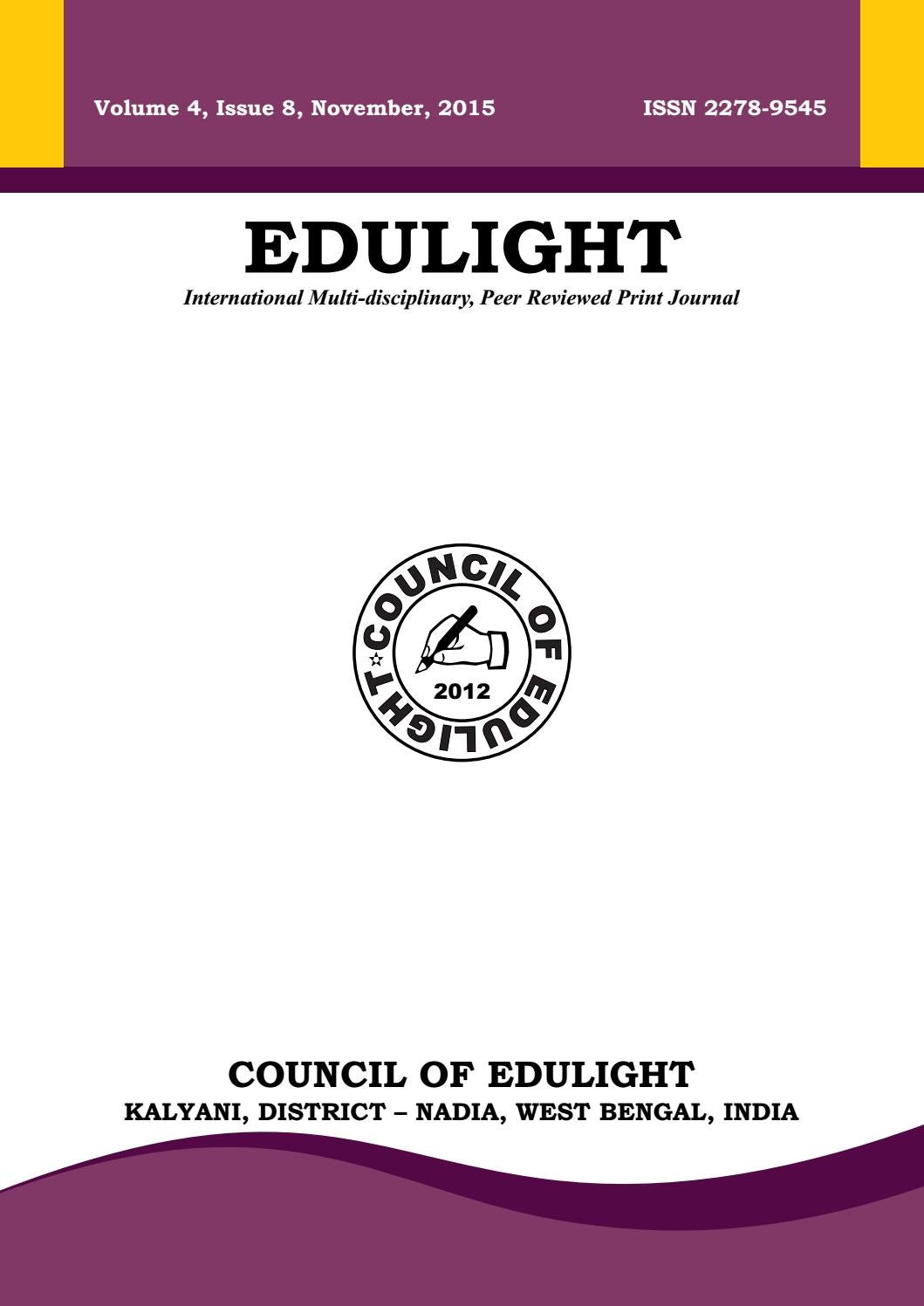 Edulight Volume 4 Issue 8 Nov 2015 By Edulight Journal Issuu Provide examples of types of nonverbal communication that fall under these categories. issuu