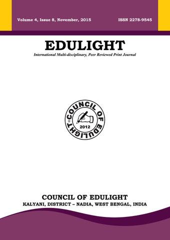 Volume 4 Issue 8 November 2015