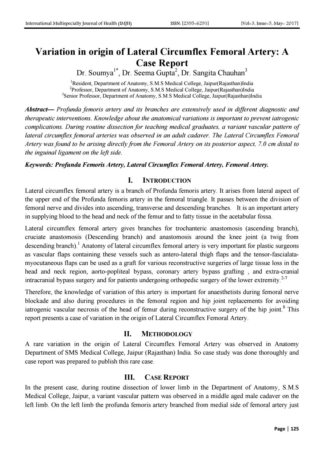 Variation in origin of Lateral Circumflex Femoral Artery: A Case ...