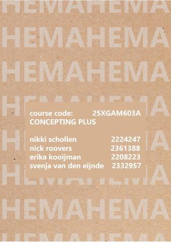 Conceptbook hema by Svenja - issuu